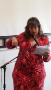 Linda Mercury set off car horns in the parking lot with her steamy reading from Vamping It Up.