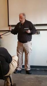 Townsley explaining what it's like to write historical fiction