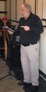 Western novelist Gregg Townsley read from his book True Believer