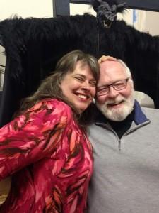 Linda Mercury and new fan, Bob McKee getting his head rubbed.