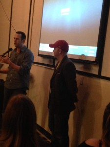Chad Coenson and director (whose name I hope to add), presented the book and future film, Me and Bobby McGee