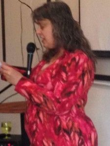 Linda Mercury started the event off, reading from her newest book, Vamping It Up